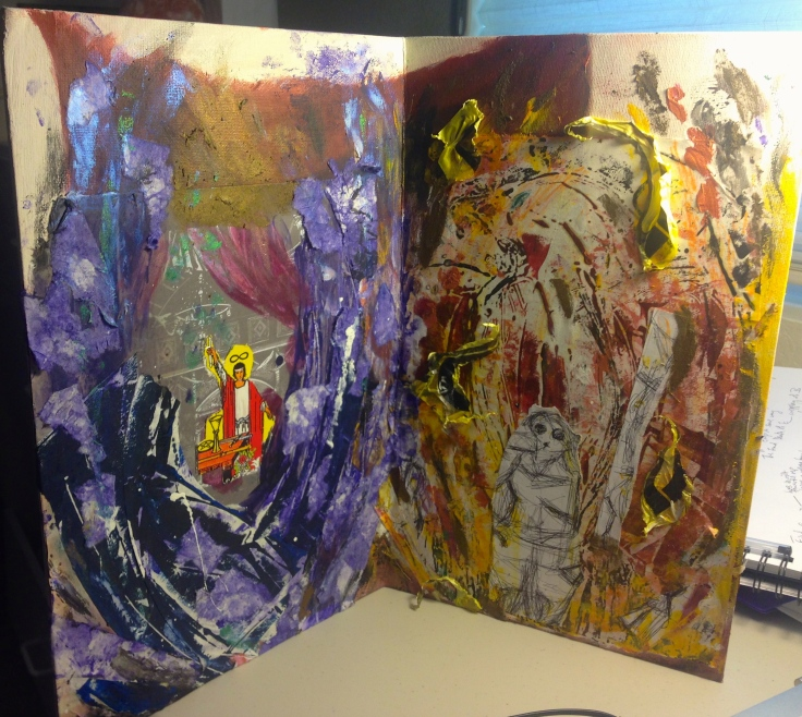 Unfinished Diptych by Katta Hules.